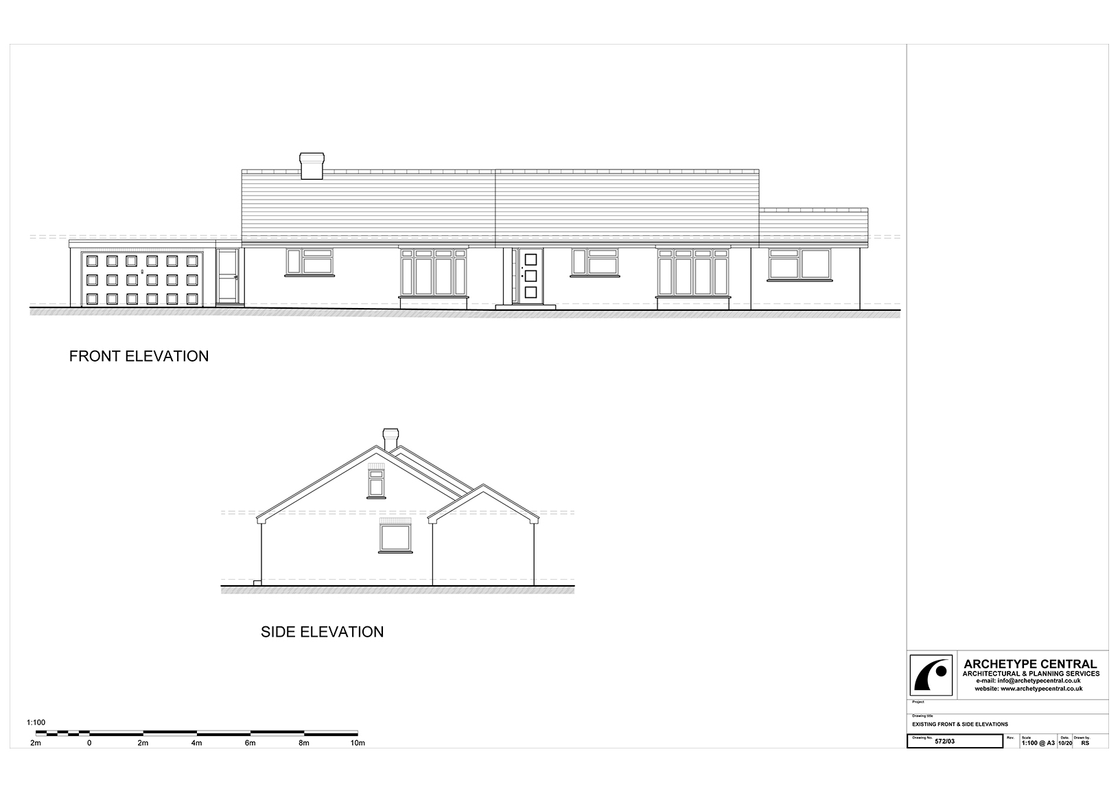 ABERDARE - EXISTING ELEVATIONS