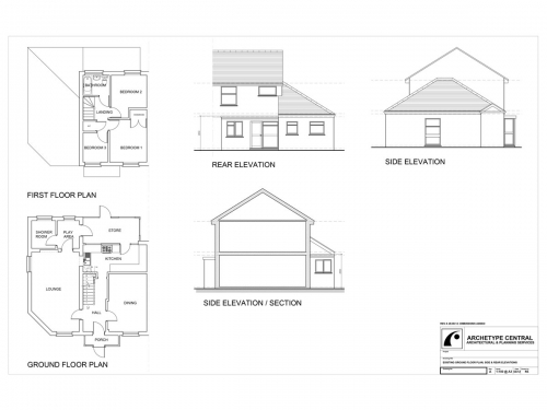 ARTHUR CLOSE - EXISTING PLANS AND ELEVATIONS