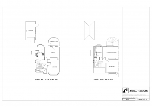 Clarion Cottage - Existing Ground and First Floor Plans