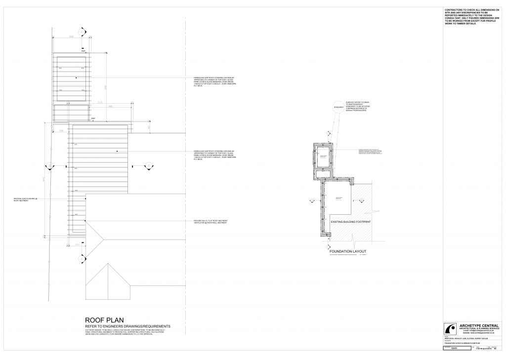 Westleigh - Proposed Roof Plan and Foundation Layout