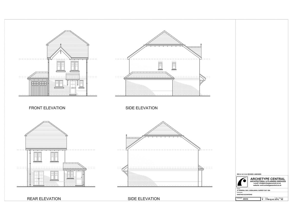 ADMIRAL WAY - EXISTING ELEVATIONS