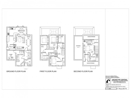 Admiral Way - Proposed Ground, First and Second Floor Plans