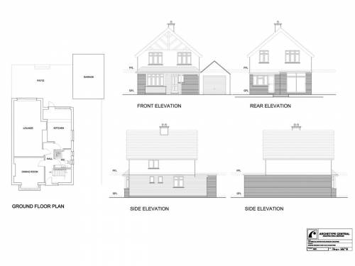 Barton Road - Existing Ground Floor Plan and Elevations
