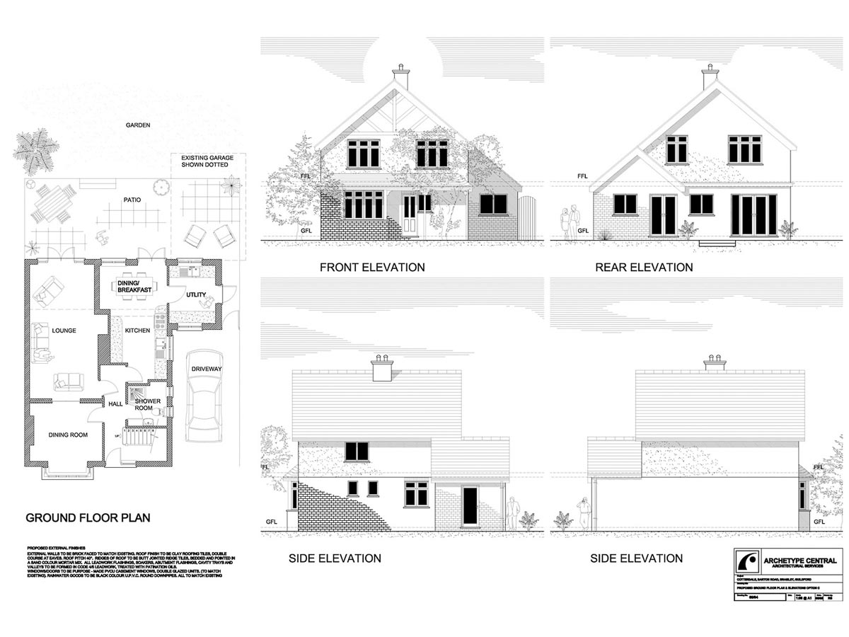 BARTON ROAD - PROPOSED PLANS AND ELEVATIONS