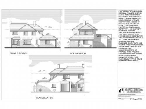Cranbrook Drive - Proposed Elevations