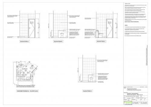 Galsworthy House - Proposed Shower Room 5 Floor Plan and Elevations