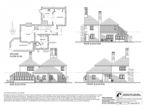 Lyons Green - Proposed Ground Floor Plan and Elevations