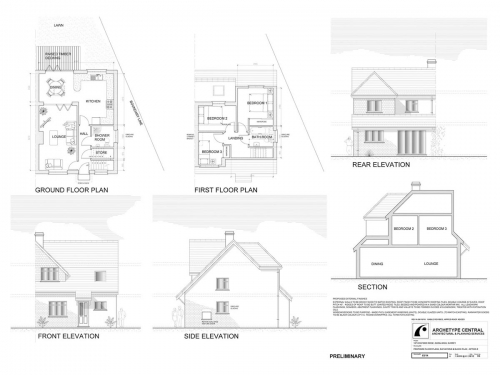 Ockford Ridge - Proposed Ground and First Floor Pland and Elevations