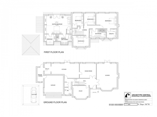 Woodmans Retreat - Proposed Ground and First Floor Plans